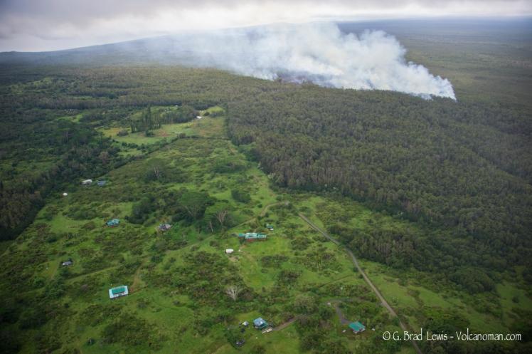 Lava near Pahoa