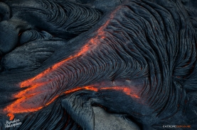 A ropey toe of pahoehoe oozes forth just above Pulama Pali.