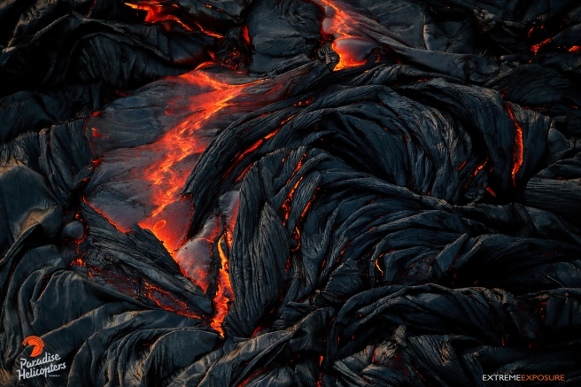 Folds and wrinkles form on the surface of a hot breakout on the flow field.