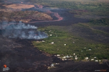 The remaining homes in Kapoho are being threatened by an expanding flow field.